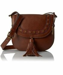 New Fossil Women's Emi Tassel Saddle Leather Crossbody Bags Variety Color