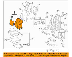 TOYOTA OEM 10-11 Camry Passenger Seat-Seat Back Cover Right 7107306B70B3