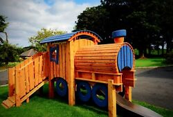 Train Playhouse With Slide Choice Of Colours. Order Now For Christmasandnbsp