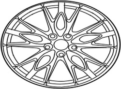4261a-53190 Toyota Wheel Disc For Front 4261a53190 New Genuine Oem Part