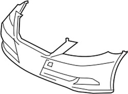 52119-50978 Toyota Cover Front Bumper 5211950978 New Genuine Oem Part