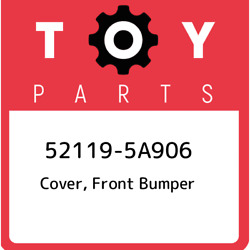 52119-5a906 Toyota Cover Front Bumper 521195a906 New Genuine Oem Part