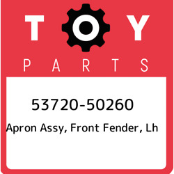 53720-50260 Toyota Apron Assy, Front Fender, Lh 5372050260, New Genuine Oem Part