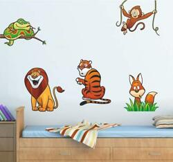 Wild Animals Art Removable Wall Decal Stickers Room Decor 85 X 125 Cm