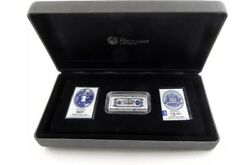 💰2013-100th Anv. Australia's First Banknote 1oz Silver Proof Coin And Stamp Set