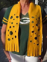 Green Bay Packers Cheese Head Scarf Face Mask Unique Great Gifts  Free Ship