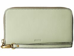 New Fossil Women Emma Rfid Leather Smartphone Wristlet Variety Colors
