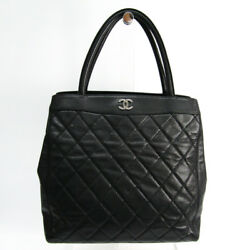 Chanel Women's Caviar Leather Tote Bag Black BF327229