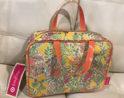 NWT Lilly Pulitzer for Target Weekender Happy Place Cosmetic Bag Makeup Travel $39.99