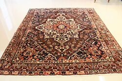 Genuine Persian Antique Bakhtiari 7and039x 8.4and039 One Of A Kind Must Buy Antique