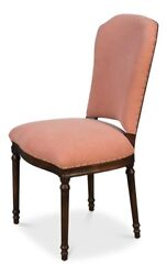 38 Alfonso Set Of Two Dining Side Chair Birch Hardwood High Back Dusty Pink