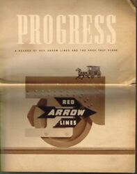 Progress - A Record Of The Red Arrow Lines And Areas They Serve - 1944- Used Bmo