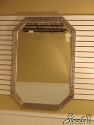 L1519 Friedman Brothers 7075 Octagon Silver Bamboo Style Mirror-new