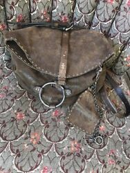 Henry Beguelin Metalic Brown Crossbody O-Ring Saddle Bag