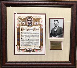 Abraham Lincoln Gettysburg Address Deluxe Framed Photo Collage