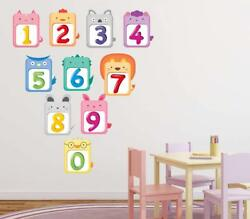 Kids Numbers Wall Stickers Removable Kids Nursery Home Decal