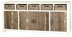 80 Long Indro Sideboard Reclaimed Pine Vintage Antique Distressed Finish