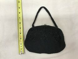 3 vintage evening bag puse clutch beaded and gold metalic thread handmade