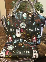 Disney Dooney & Bourke Haunted Mansion Satchel & Wallet 2018 NWT SOLD OUT!