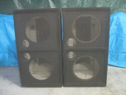 Empty Subwoofer Cabinets. Designed and built for dual 18