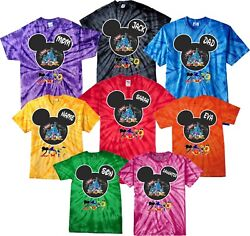 New Disney Family Vacation 2021 Tie Dye T-shirts With Custom Names