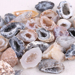 Agate Geodes Collection Raw Stone Slice Natural Crystals Halves Healing Grade Rn