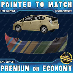 New Painted To Match Rear Bumper Exact Fit For 2010-2015 Toyota Prius W/ Spoiler