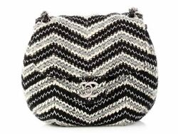 CHANEL Black and White Tweed Handbag Purse ~ A small bag to dress up....or down!