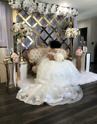 eve of milady wedding dress off white one of a kind size 6