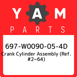 697-w0090-05-4d Yamaha Crank Cylinder Assembly Ref. 264 697w0090054d New Ge