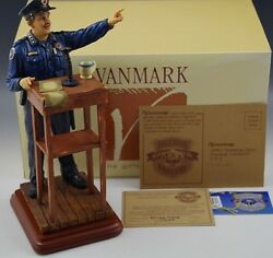Vanmark Morning Briefing Blue Hats Bravery Figurine L.e.1/2324 Police Department