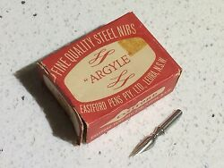 Vintage Eastford Pens Argyle Ink Dipping Pen Steel Nibs X144 Un-sealed Box Draw