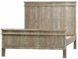 80 Giorgia Bed Queen Solid Reclaimed Wood Antique Weathered Finish