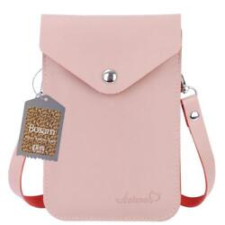 Candy Color Small Cell Phone Purse Bag Crossbody Little Leather Pouch for Girl(