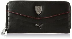 Puma Faux Leather Purse Black Clutch Coin Bag Wallet Card Holder For Women Girls