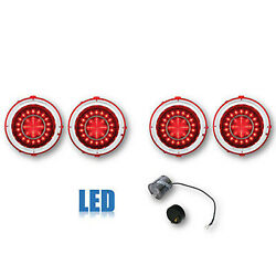 70 71 72 73 Chevy Camaro Rs Red Led Lh Rh Tail Brake Light Lens And Flasher Set