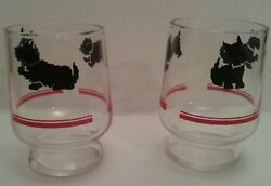 Vintage Scottie Dog Juice Glasses