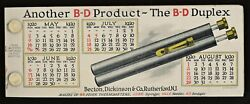 1919 B-d Fever Thermometer Celluloid Cover Ink Blotter Book
