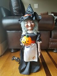 Vintage Telco Motion-ette Animated And Illuminated Witch 31 Halloween Figure
