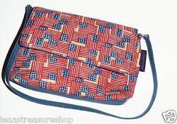 Longaberger Womenand039s Hand Purse Tote Bag 9 X 5 American Flag Pattern