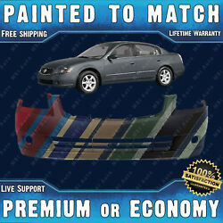 Painted To Match - Front Bumper Replacement Fascia For 2005 2006 Nissan Altima