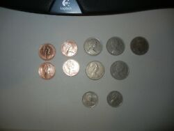 Lot 11 Coins From Great Britain. 2-5-10 New Pence.1968-1980
