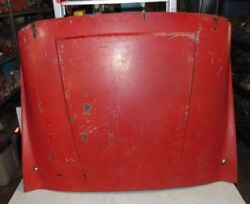 Triumph Tr2 Tr3 Flat Hinge Hood-nice-rustfree-good Solid Piece To Work With -3