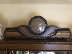 Large Telep Antique Mantel Clock Westminster Trinity Chimes Germany Rare
