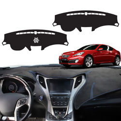 Chamois Non Slip Dashboard Stitch Sun Cover For Hyundai 2009-2012 Genesis Coupe