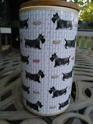 SCOTTISH TERRIER CERAMIC CANNISTER BY MILLY GREEN DESIGNED IN BRITIAN NWOT