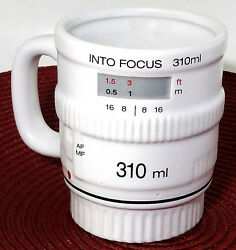 Camera Lens Coffee Mug Into Focus By Bitten 3d White Cup No Lid