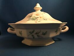 Adams Azalea Round Covered Vegetable Dish With Lid - Discontinued 1988