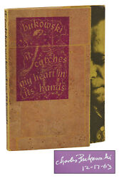 It Catches My Heart In Its Hands Charles Bukowski Signed First Edition 1st
