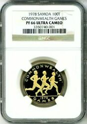 1978 Gold Samoa 100 Tala Ngc Proof 66 Ultra Cameo Only 1000 Minted